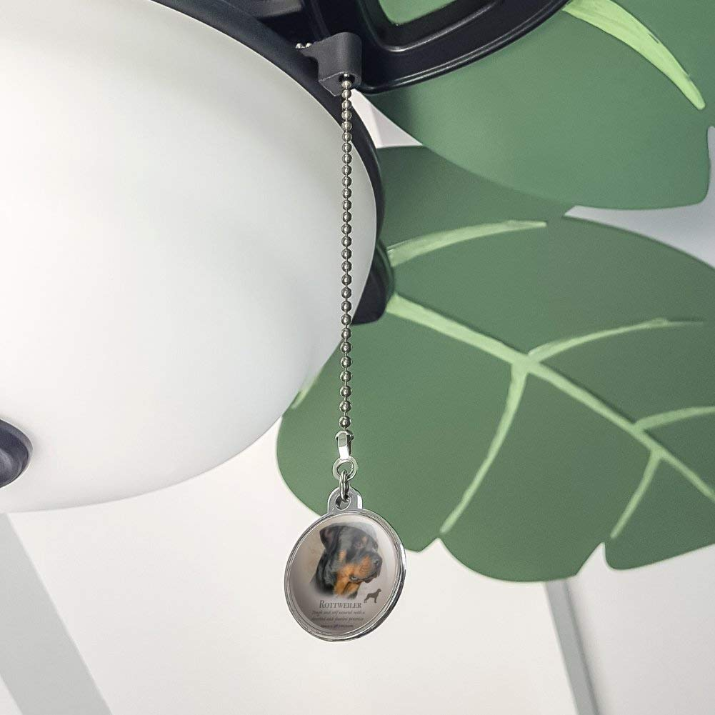GRAPHICS /& MORE Rottweiler Rottie Dog Breed Ceiling Fan and Light Pull Chain