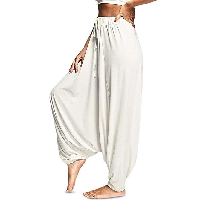 Familizo Pantalones Mujer Cintura Alta Tallas Grandes Verano Comodos Elasticos Mujeres Moda Novia Hipsters Harem Pantalones Bombones Baggy Pantalones Ropa Mujer