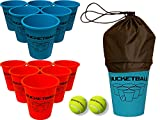 Bucket Ball Best Deals - BucketBall Game Set (12 Buckets, 2 Game Balls, Tote Bag and Instructions)