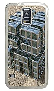 Samsung Galaxy S5 sell cover Abstract 3D Building Blocks PC Transparent Custom Samsung Galaxy S5 Case Cover