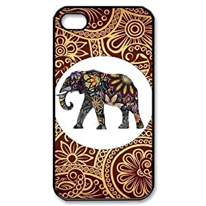 DIY Phone Case for Iphone 4,4S, Indian Elephant Cover Case - HL-R645205