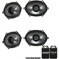 Kicker CSC68 6x8-Inch (160x200mm) Coaxial Speakers, 4-Ohm Bundle