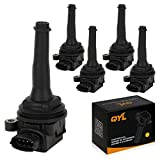 xc90 ignition coil - QYL Pack of 5 Ignition Coil for Volvo C70 S60 S70 V70 XC70 XC90 L5 2.3L 2.4L 2.5L C1258 UF341 UF-341