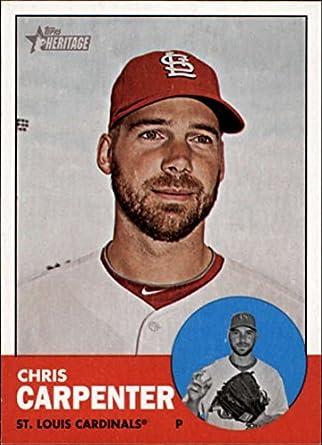 01f33ebef3a Amazon.com  2012 Topps Heritage  415 Chris Carpenter Cardinals ...