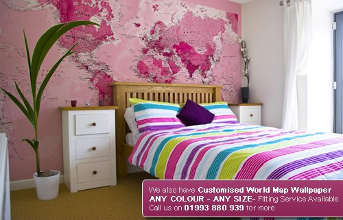 Pink world map wallpaper amazon kitchen home pink world map wallpaper gumiabroncs Choice Image
