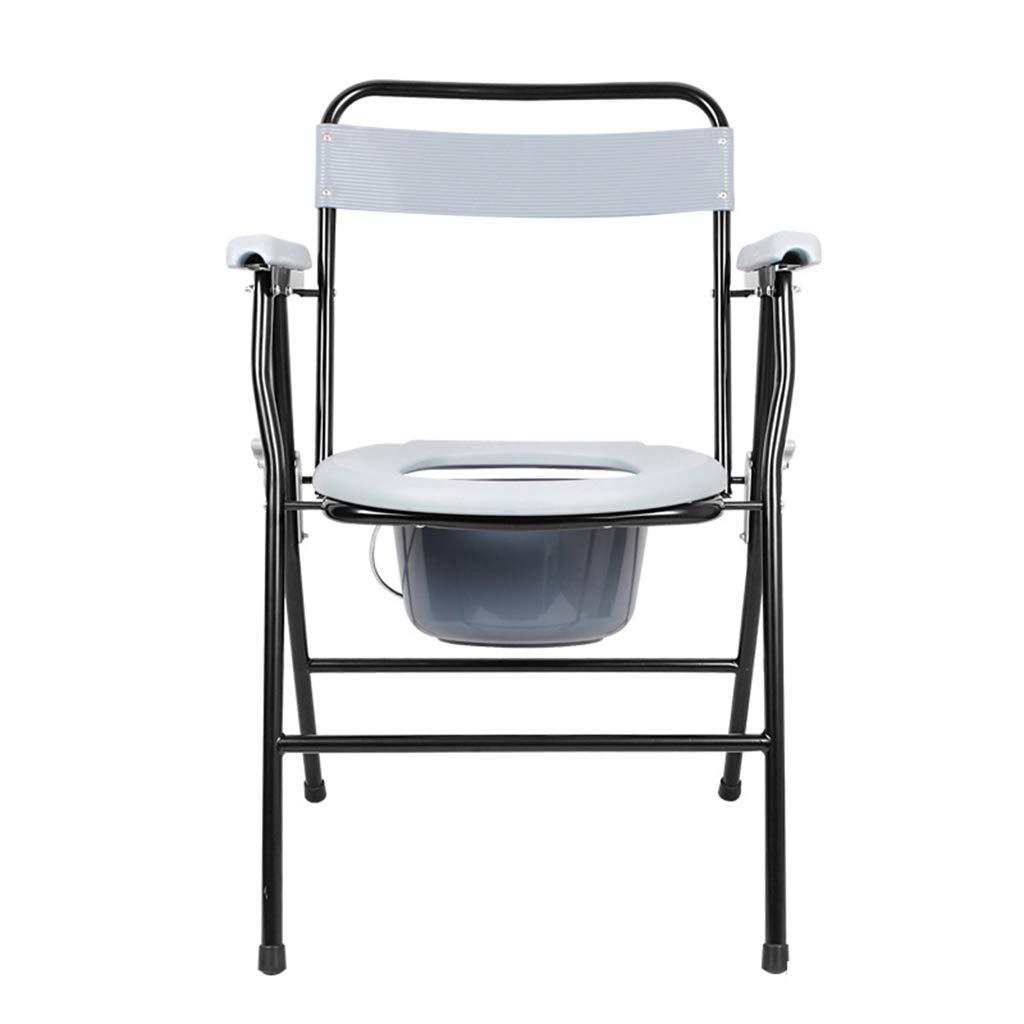 ポータブルトイレ 老人の椅子寝室トイレ可動式トイレシャワー椅子折りたたみ式トイレ家庭用トイレ90kg (Color : Gray, Size : 50*54*78cm) B07JYBW3RC  Gray 50*54*78cm