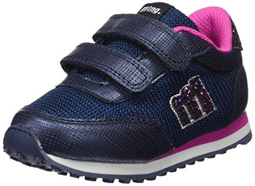 MTNG Unisex-Kinder Jogger Sneakers Blau (Santo Marino / Glitter Multi Azul)