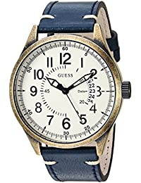 Men's Stainless Steel Leather Classic Watch, Color:...