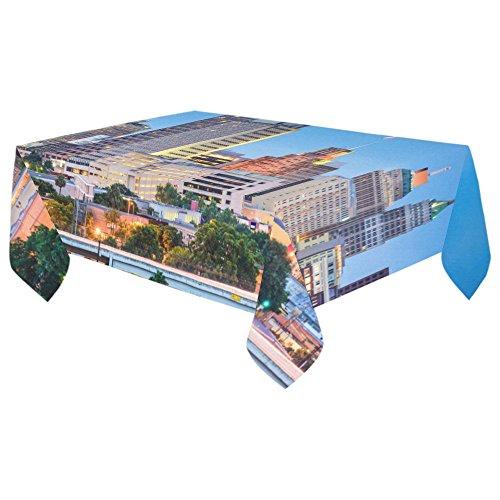 Unique Debora Custom Tablecloth Cover Cotton Linen with San Antonio Texas Usa Skyline