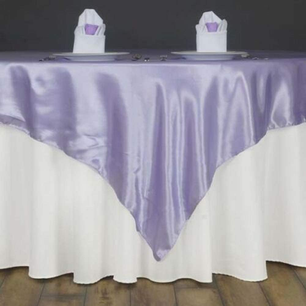72 Satin Square Table Overlay Lavender YSefa