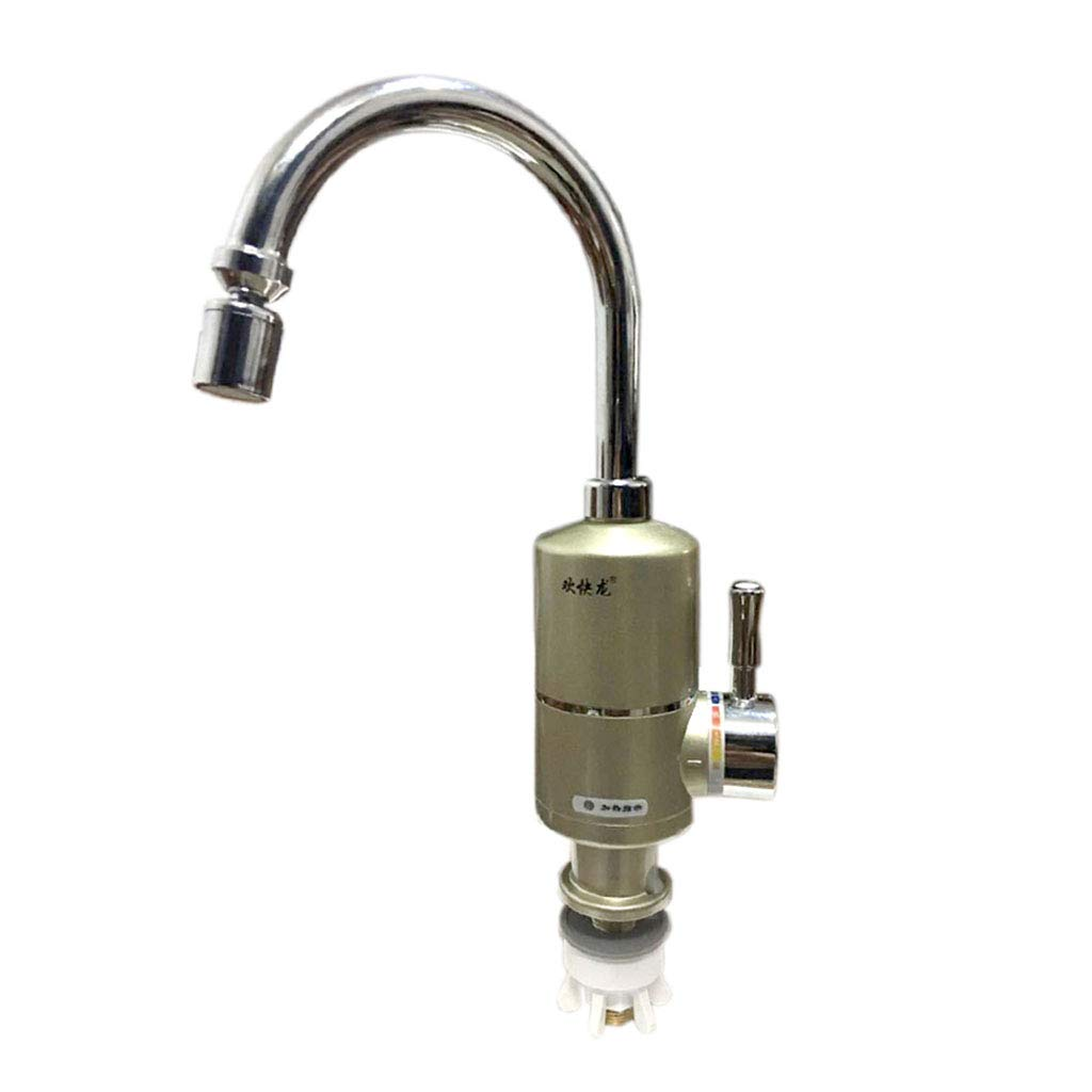 Electric faucet 220V 3KW Heater Instant Electric Hot Water Tap Instant Tankless Faucet Kitchen Instant Heating Tap Water Faucet Roscloud@ (Color : Big Under Inflow, Size : 3000W)