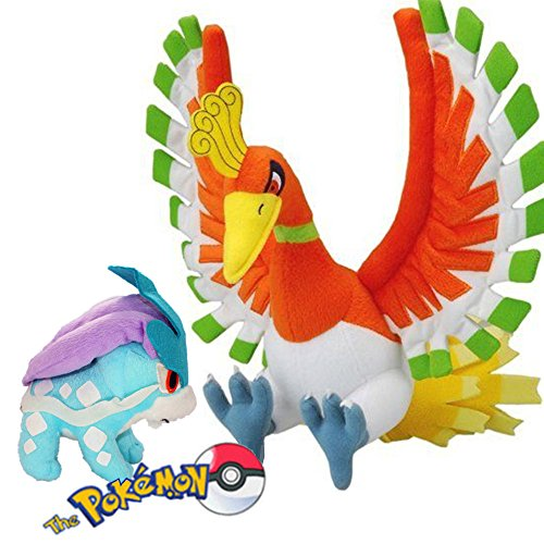 Pokemon Crystal Pokedoll Plush Toy Suicune & Ho-oh Set of 2