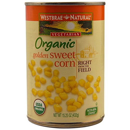 Organic Sweet Corn - Westbrae Natural Organic Whole Kernel Golden Corn, 15.25 Ounce Cans (Pack of 12)