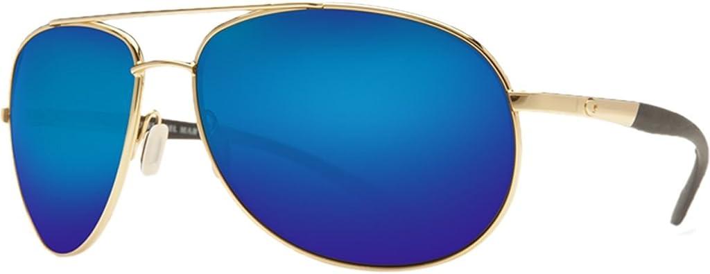 Costa Del Mar Wingman Polarized 580P Mirrored Sunglasses Silver Green