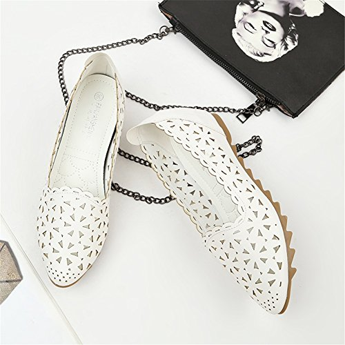 Wedge Summer PU Out Soft Shallow Women's Shoes Bottom Peas Mouth A Color for Casual 42 Hollow Sandals Heel Size Shoes 1qEwf5X