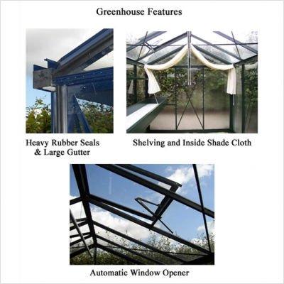 Bundle-46 Royal Victorian 8' x 10' Glass Greenhouse (4 Pieces)