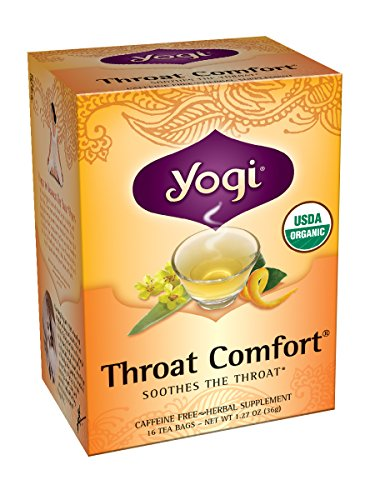 Elm Slippery Cherry - Yogi Teas Throat Comfort, 16 Count (Pack of 6)