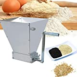 ECO-WORTHY Barley Crusher 2-Roller Malt Mill Grinder for All-Grain Home Brewing Beer 7.7 lbs Capacity