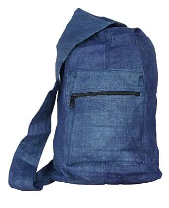 Hemp Courier Bag (blue)