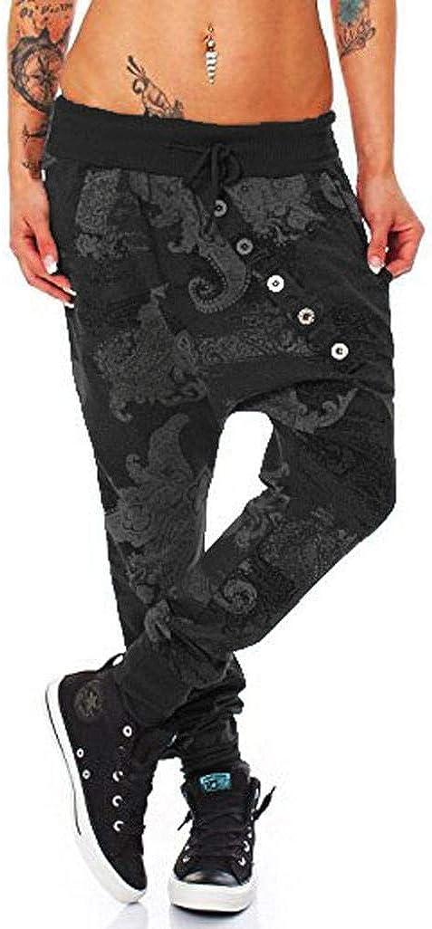 beautyjourney Pantalones de impresión de pulpo de gran tamaño para mujeres y hombres Pantalones casuales flojos de Hip Hop holgados Pantalones deportivos Pantalones para correr