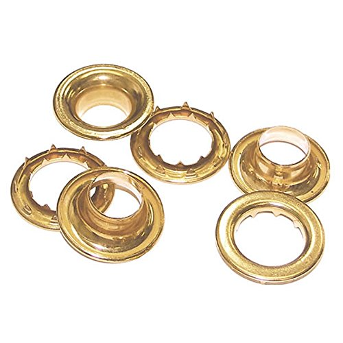 144 QTY-C. S. Osborne & Co.-No. G2-8-BRASS Grommets & Spur Washers, size 8. MPN# 13060 by C. S. Osborne & Co.