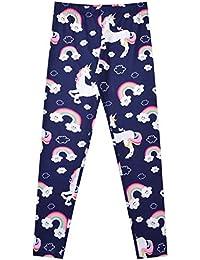 93a5c98b8 Girl Unicorn Leggings Kid Rainbow Print Legging Tights Trousers Slim Long  Pants