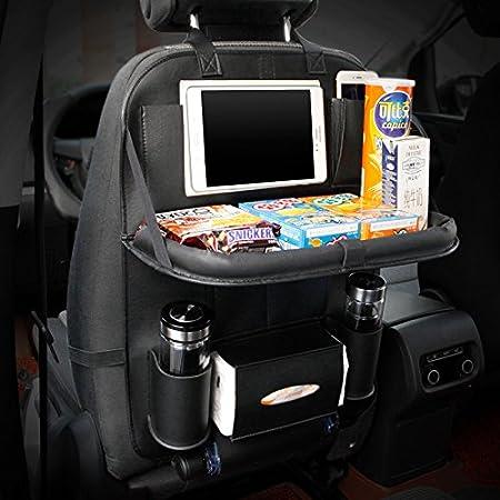 Pliable Table /à Manger Titulaire Plateau Multifonctionnel Protecteur Sac de Rangement Kick Mat Accessoire de Voyage HONCENMAX 1 Pack Organisateur de Si/ège de Voiture
