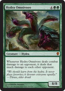 Magic: the Gathering - Hydra Omnivore (169) - Conspiracy (Green Rare)