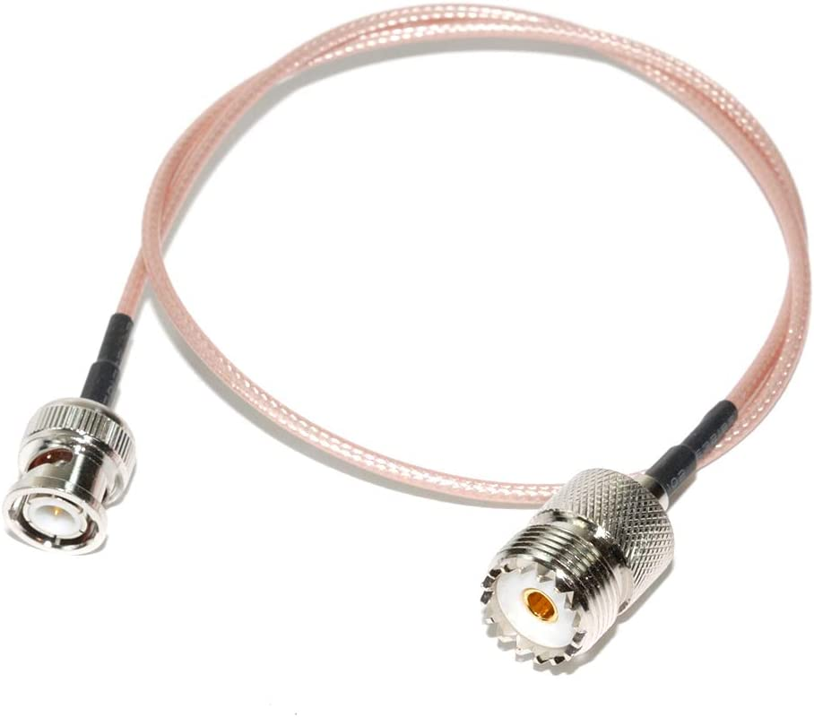 AEcreative PL-259 to BNC coaxial External Antenna Adapter for shortwave Radio Receiver Eton Grundig 750 Tecsun s2000 Cobra Midland CB Uniden Whistler Radioshack Scanner