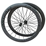 FASTEAM 50mm Road Bike Clincher Wheelset Carbon Shimano 10/11 Speeds Cassette Compatibility 20/24