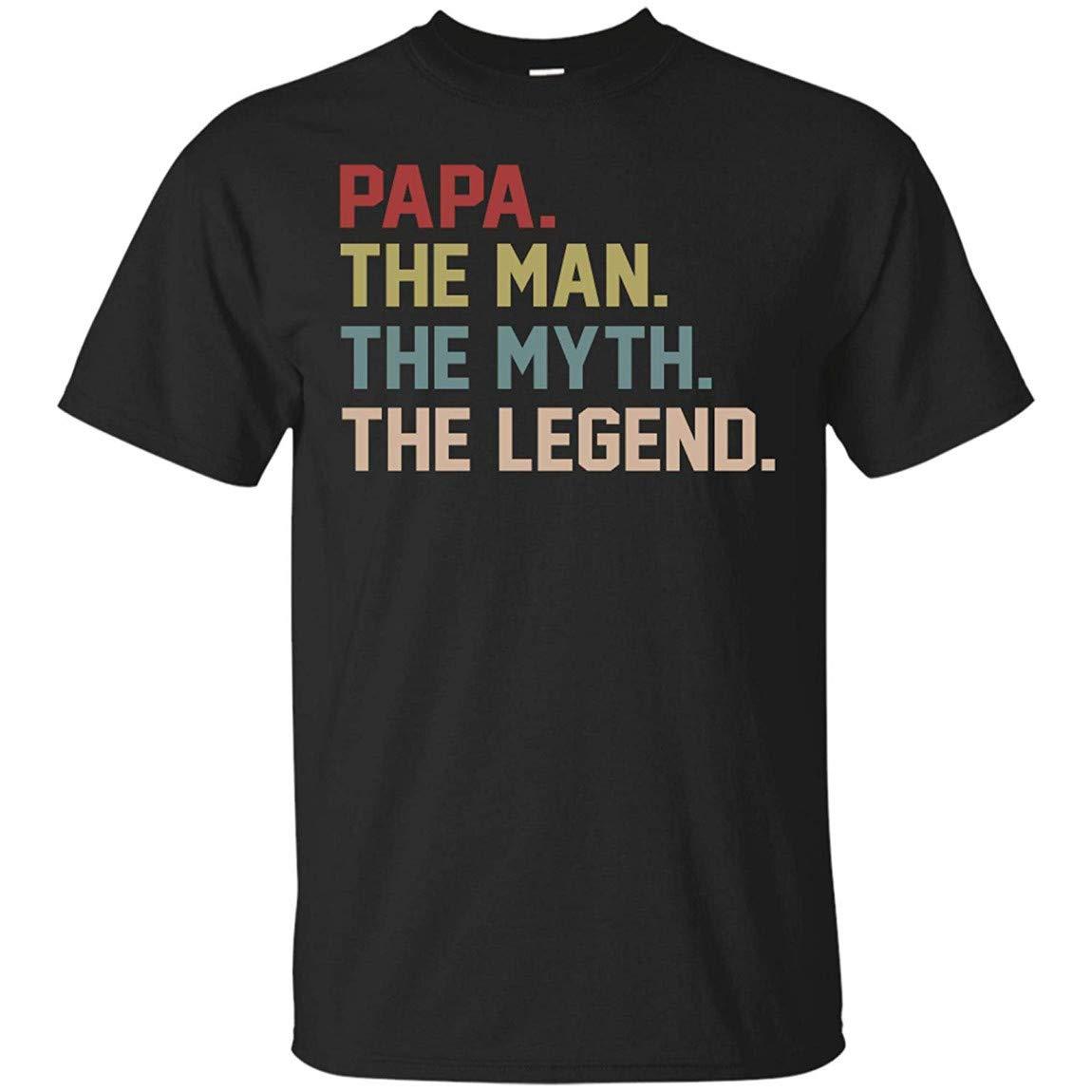 The Man The Myth The Legend Shirt For S Papa T-shirt Black