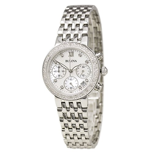Bulova Stainless Steel Diamond Watch (Bulova Diamond Wrist Watch)