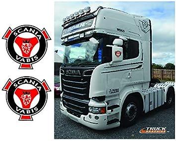 Scania Außenspiegel R Series Streamline Aufkleber Emblem Scania Vabis 32 Auto