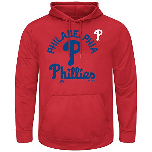 - Majestic Athletic Men's Philadelphia Phillies Synthetic Pullover Hoodie (2XL)