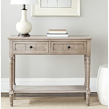 Safavieh AMH5710A American Homes Collection Samantha 2-Drawer Console Table, Vintage Grey