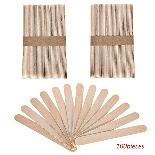 - Sekass 100 Pack Wood Jumbo Craft Sticks Large 6