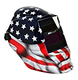 Sellstrom 41200GL-611 Old Glory Graphic Trident Welding Helmet with Impulse MagSense Magnetic Sensing Variable Shade 9-13 Auto-Darkening Filter
