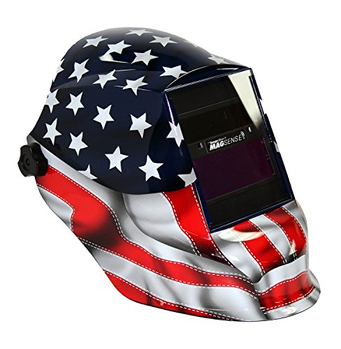 Sellstrom 41200GL-611 Old Glory Graphic Trident Welding Helmet with Impulse MagSense Magnetic Sensing Variable Shade 9-13 Auto-Darkening Filter by Sellstrom (Image #3)
