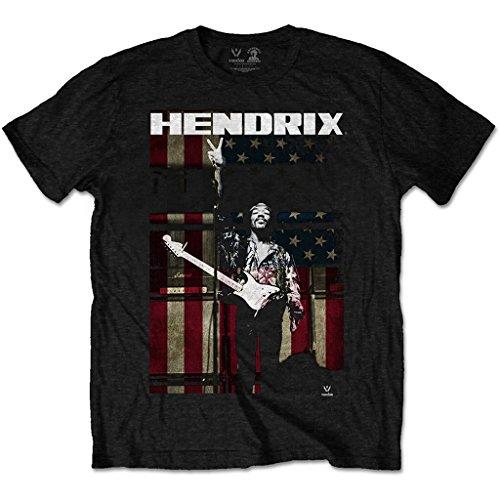 Jimi Hendrix Experience Peace Flag Rock offiziell Männer T-Shirt Herren