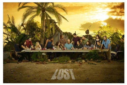 Lost Tv Show Poster - Innerwallz Lost - The Lost Supper TV Show Art Print - TV Show Memorabilia - 11x17 Poster, Vibrant Color, Features Naveen Andrews, Matthew Fox, Jorge Garcia.