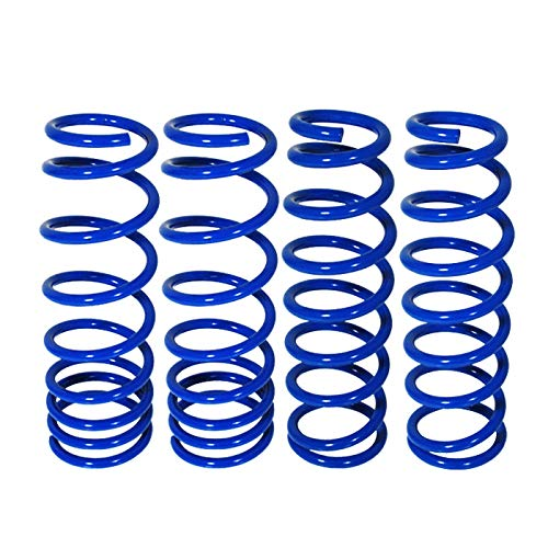 Fit 2004-2008 Acura TL /2003-2007 Honda Accord (V6 Engine Only) Suspension Lowering Spring Blue (Accord Front -1.8