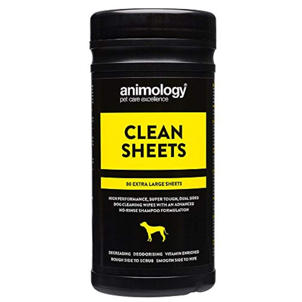 Animology Clean Sheets Dog Cleaning Wipes, Pack of 80