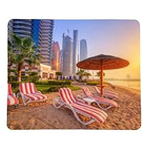 alfombrilla de ratón Salida del sol en la playa de Perian Golfo en Abu Dabi - rectangular - 23cm x 19 cm