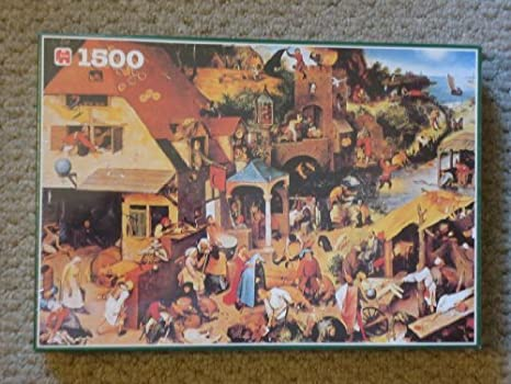 Jumbo 1500 Jigsaw Puzzle Proverbs By Pieter Bruegel by Jumbo: Amazon.es: Juguetes y juegos