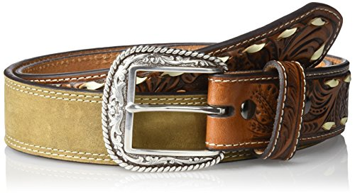 Ariat Men's Buck Billet Distressed Western Belt, Tan, 34 ()