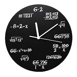ARAD Black Mathematical Equations Wall Clock