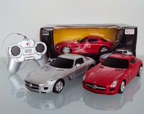 1:24 Scale Mercedes-Benz SLS AMG Radio Remote Control Official Liciense Model Car RTR (Color:Red)