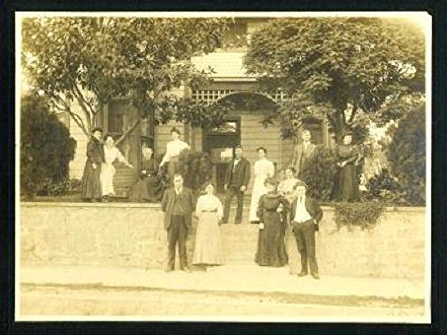 Family In Front of Their Home Vintage 10