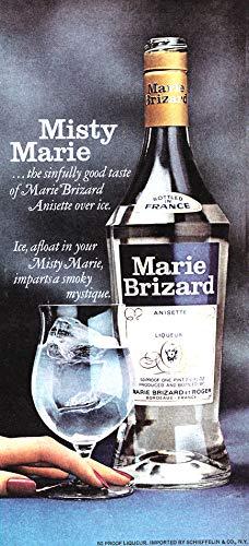 WholesaleSarong 1977 Liquor Ad, Marie Brizard Anisette Liqueur Liquor ad Retro Poster Wall Poster ()