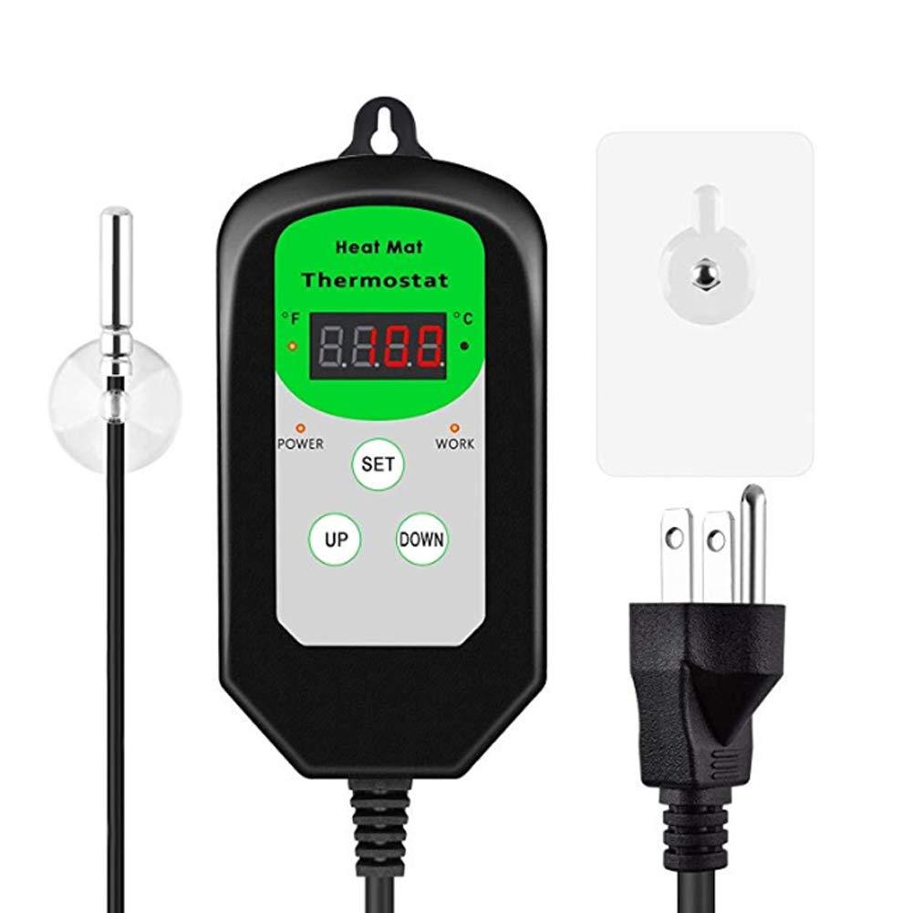 Belegend Heat Mat Therostat Controller LED Digital Display Heat Mat Thermostat for Germination Reptile